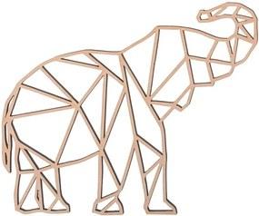 ČistéDrevo Drevený geometrický obraz - slon