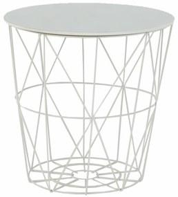Tempo Kondela Príručný stolík, mramor/biela, ENPLO