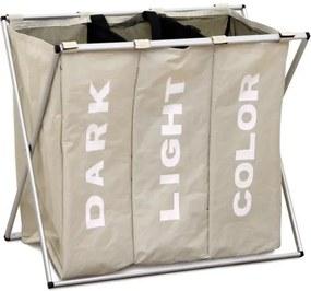 TEMPO KONDELA Laundry Typ 3 kôš na prádlo sivobéžová