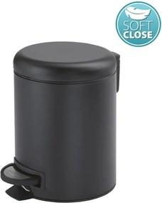 Potty 320914 odpadkový kôš 3l, Soft Close, čierny matný