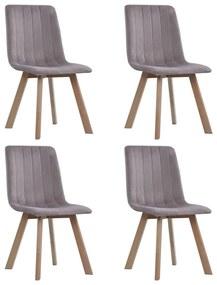 vidaXL Jedálenské stoličky 4 ks, ružové, zamat