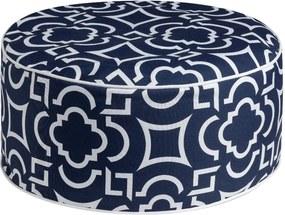 Modrý puf Brandani Labyrinth, ⌀ 53 cm