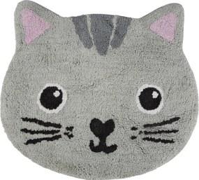 Sass & Belle Bavlnený koberček Mačička - sivý