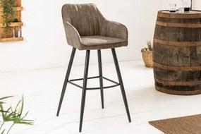 Dizajnová barová stolička Esmeralda vintage taupe