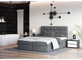 Dizajnová posteľ WALLY 160x200, šedá