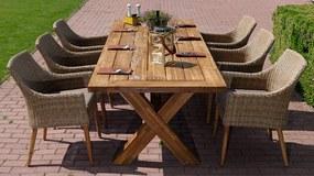Norwick teak Faro natur stolová súprava