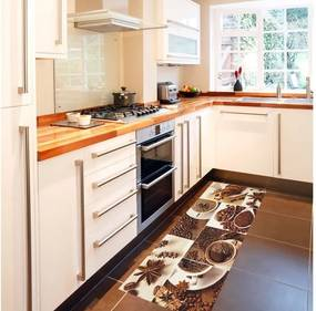 Vysokoodolný kuchynský behúň Floorita Break, 60 × 220 cm