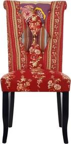 Butlers PATCH Patchwork stolička - červená