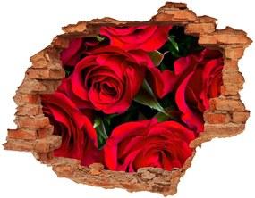 Fototapeta diera na stenu 3D Červené ruže nd-c-76865971