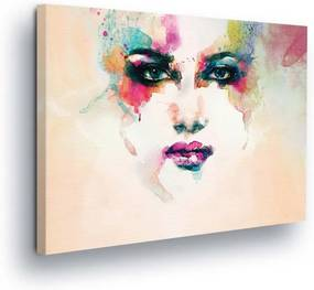 GLIX Obraz na plátne - Face in Barva 100x75 cm