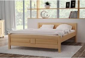 Vyvýšená posteľ Joana + pěnový matrac COMFORT 14 cm + rošt, 140 x 200 cm, jelša-lak