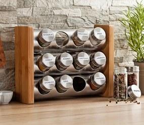 Bambusový stojan s koreničkami - 12 kusov