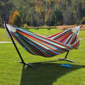 Relaxačné HAMAKA AVENBERG BELINDA - červená-biela-žltá-tyrkys