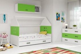Domčeková posteľ DOMI 160x80cm - Biela - Zelená