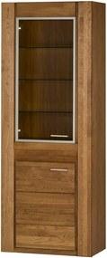 Dvojdverová vitrína z dubového dreva s pántmi na ľavej strane Szynaka Meble Velvet