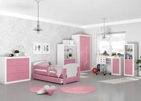 GL Izby pre deti Jakub COLOR 160x80 - ružové