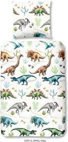 Detské obliečky na jednolôžko z bavlny Good Morning Dino, 140 x 200 cm