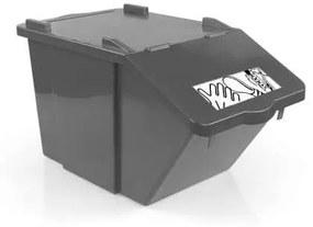 Odpadkový kôš na triedený odpad TTS, objem 45 l, hnedý
