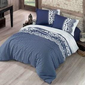 Kvalitex Bavlnené obliečky Canzone modrá, 140 x 200 cm, 70 x 90 cm