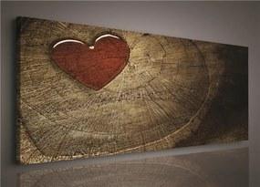 Obraz na stenu srdcia 145 x 45 cm