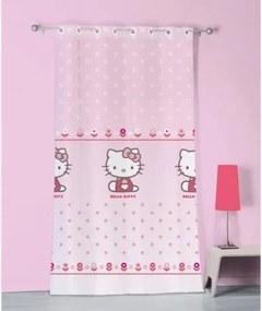 CTI záclona Hello Kitty Caroline polyester ružová 140/240cm HELLO KITTY HKI0933