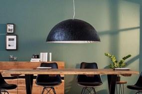 Závesné svietidlo Heat 70 cm / čierna - strieborná