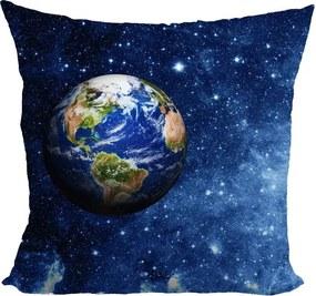Vankúš Planéta Zem (Veľkosť: 40 x 40 cm)