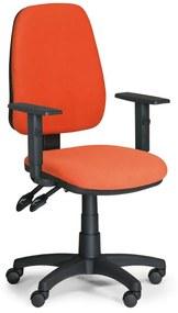 EUROSEAT Kancelárska stolička ALEX s podpierkami rúk, oranžová