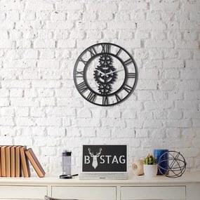 Kovové nástenné hodiny Industrial, 50 × 50 cm
