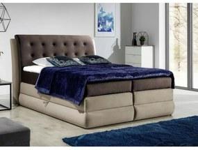 Mohutná kontinentálna posteľ Vika 120x200, hnedá + latte