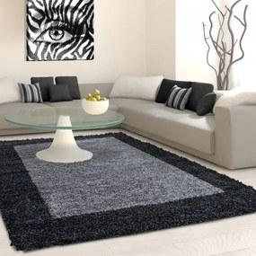 Ayyildiz koberce Kusový koberec Life Shaggy 1503 anthracit - 60x110 cm