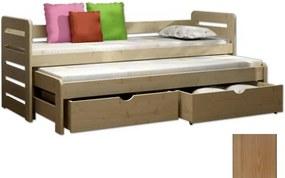 FA Detská posteľ Veronika 11 (180x80 cm) s prístelkou - viac farieb Farba: Dub, Variant bariéra: S bariérou
