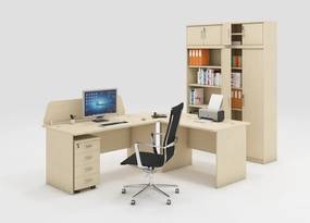 Zostava kancelárskeho nábytku MIRELLI A+, typ A, breza