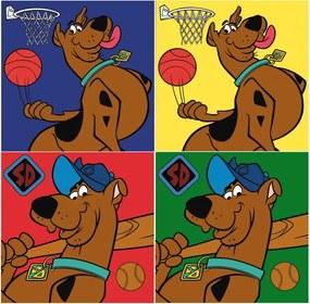 Javoli Uterák na tvár Scooby Doo 30 x 30 cm 2 ks