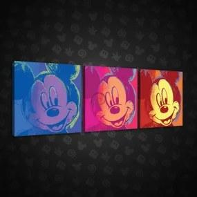 Obraz na plátne viacdielny - OB2601 - Mickey Mouse 75cm x 25cm - S13