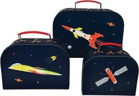 Kartónový kufrík Vesmír 16 cm - malý