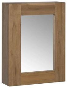 vidaXL Skrinka so zrkadlom 30x10x40 cm, tíkový masív