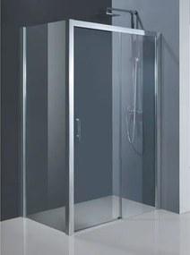 Sprchové dveře HOPA ESTRELA - 120 cm, 195 cm, Levé (SX), Hliník chrom, Čiré bezpečnostní sklo - 6 mm (BCESTR12CCL)