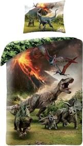 Halantex povlečení Jurassic World (Jurský park) JW-500BL 140x200cm + 70x90cm