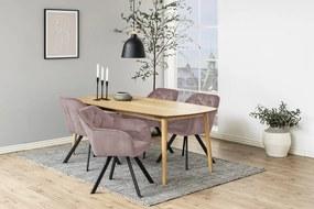 Dizajnová stolička Aletris, ružová