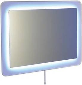 SAPHO - LORDE zrcadlo s přesahem s LED osvětlením 900x600mm, bílá (NL602)