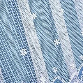 Goldea žakárová záclona vzor 3805 sedliacky vzor s kvetinami - metráž 110 cm