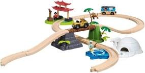 EmaHome Železniční dráha / dřevěná dráha / vlak / vláček / cesta kolem stvěta
