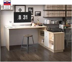 TEMPO KONDELA Dalton 2 New rohový pc stolík biela / grafit