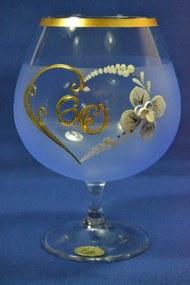 Výročný pohár na 60. narodeniny BRANDY - modrý