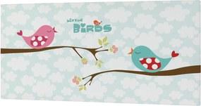 Mr. FOX Nástenný obraz Little birds - vtáčiky, 27x54 cm