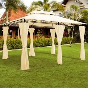 Záhradný altánok Topas 4x3 krémová