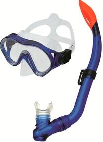 Spokey CAYMAN JUNIOR Súprava okuliare + šnorchel modrá
