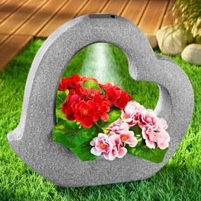 Kvetináč s osvetlením Srdce