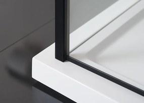 POLYSAN - ZOOM LINE BLACK sprchová bočná stena 800mm, číre sklo (ZL3280B)
